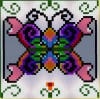 Butterfly and Hearts Pixel Art
