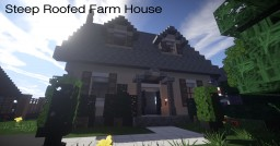 Small Steep Roofed Farm House | Mine County Houses Minecraft Map & Project