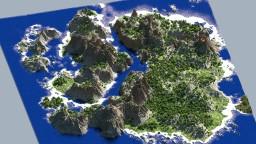 Warsine, 14000x20000 blocks. Minecraft