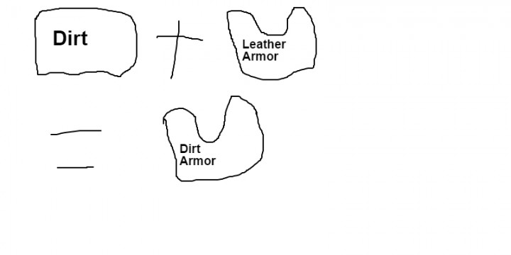 dirt tools and armor