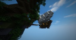 Fantasy Floating Island with small Airship || PMC Weekly Minecraft Map & Project