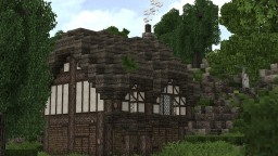 Small Medieval House Tutorial - Medieval Monday #1 Minecraft Map & Project
