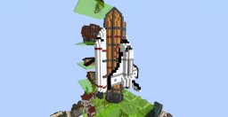 S.V.S.F Rocket With Shuttle Minecraft Map & Project
