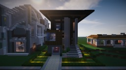 Halfmoon - Modern Townhouse Minecraft Map & Project