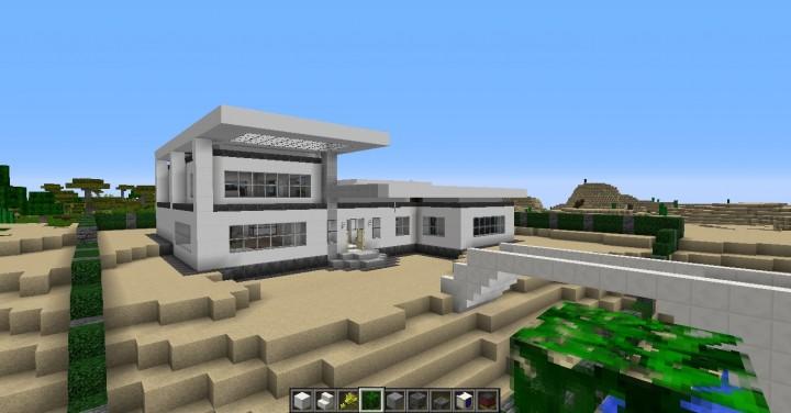 Modern house minimalist style 1 minecraft project for Minimalist house minecraft