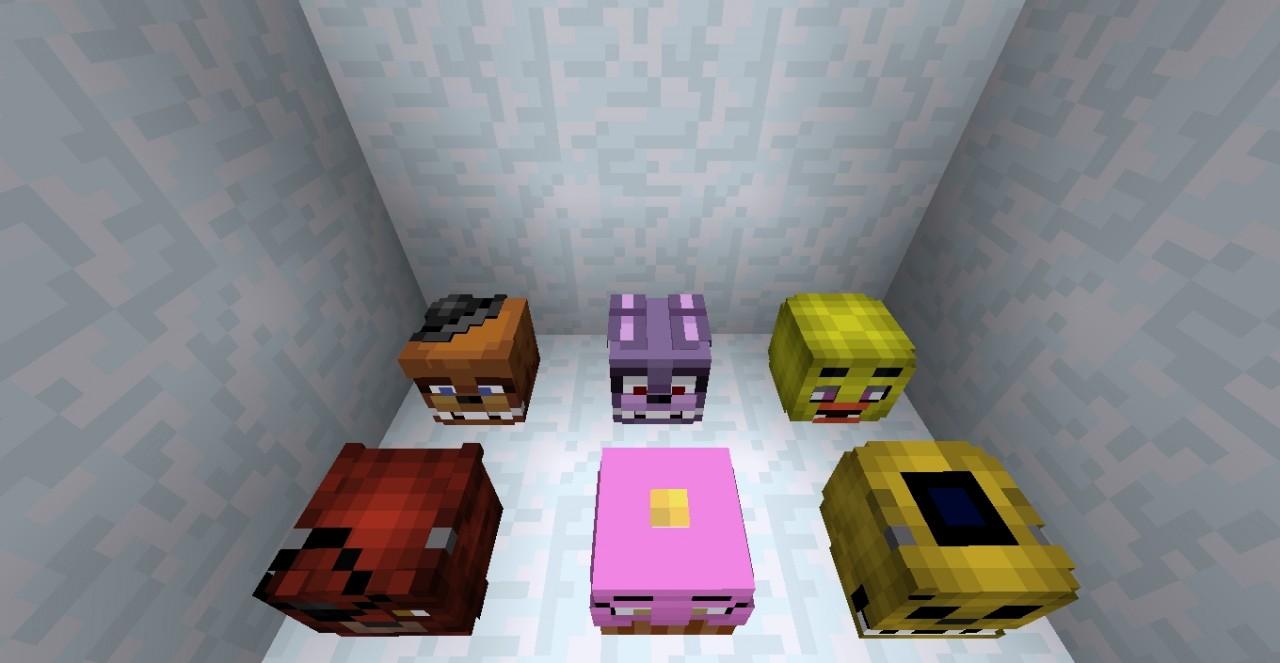 FNaF Heads Minecraft Blog - Minecraft spielerkopfe 1 8