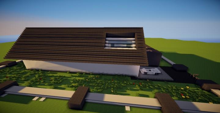 Maison moderne 3 minecraft project for Minecraft maison moderne