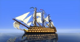 1st Rate Ship Of The Line: Invicta Minecraft Map & Project