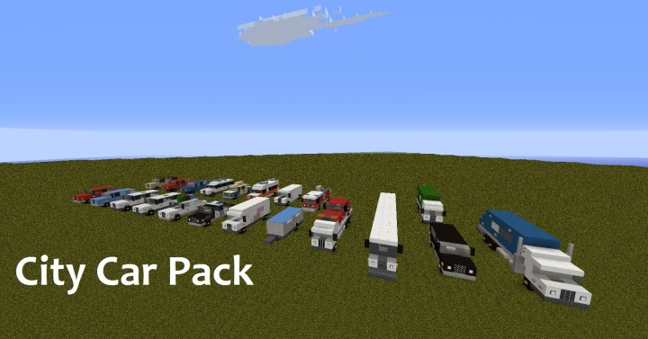 City Car Pack Realistic Cars Minecraft Project