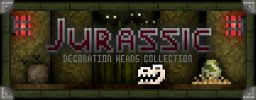 """Jurassic Collection"" Decoration Player Heads + Schematic Minecraft Map & Project"