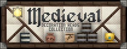 Medieval Collection Decoration Player Heads Schematic Minecraft