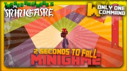 2 seconds to fall minigame with only 2 command blocks Minecraft Project