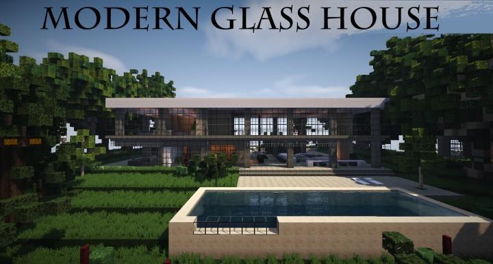 Modern Glass House Wok Minecraft Map