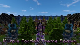 Faction Spawn Purple Themed Minecraft Map & Project