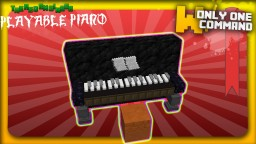 Playable Piano with only 2 command blocks Minecraft