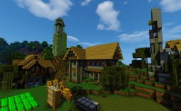 Overgrown Old Town - Community Build Project Minecraft Map & Project