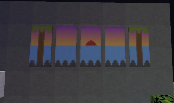 how to make a sunset banner in minecraft
