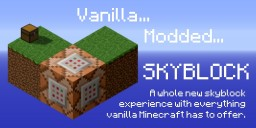 SKY BLOX - Vanilla Modded Skyblock with New Twists! Minecraft Project