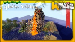 Self-regenerating volcano with only 2 command blocks Minecraft