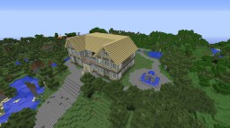 Redstone Mansion with Secure Vault/Bomb Shelter Minecraft Map & Project