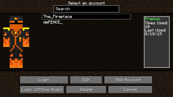 InGame Account Switcher Minecraft Mod - Minecraft name andern deutsch