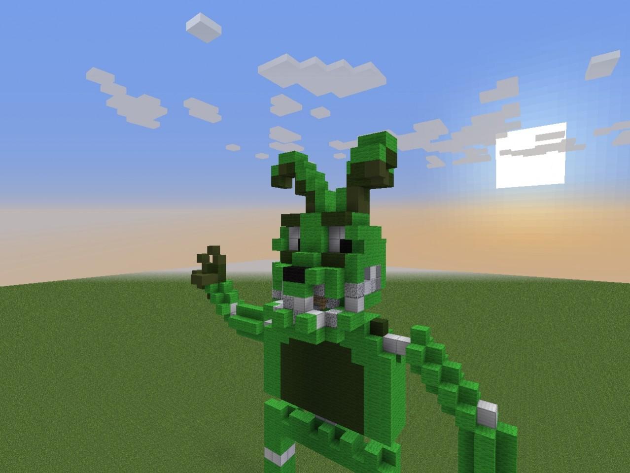 Plushtrap statue minecraft minecraft project