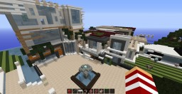 Huge Modern Mansion with a guest House Minecraft Project