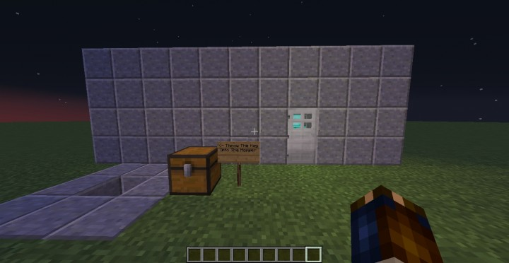 Working Lock And Key Iron Door Opener Minecraft Project