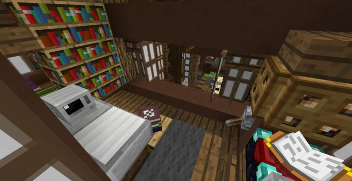 Study overlooking lobby