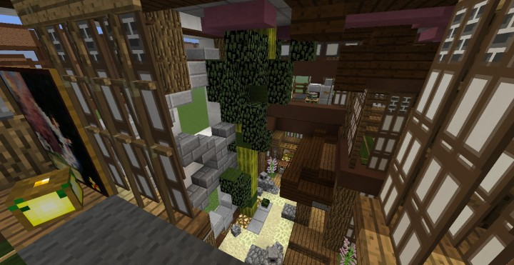 Zen garden and Bamboo tree