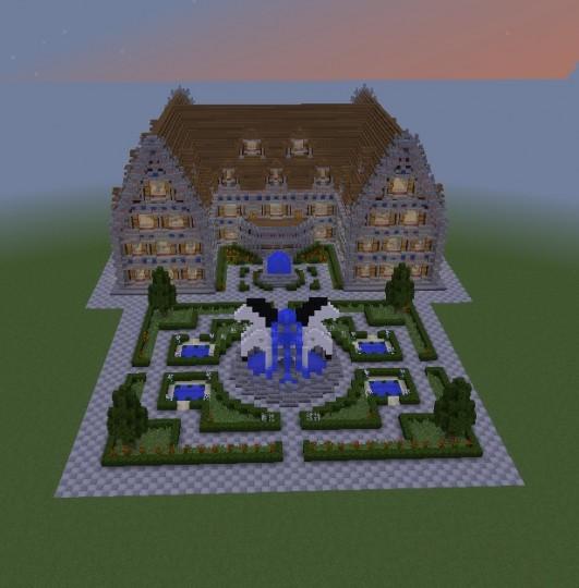 Haus mit Garten House with garden Minecraft Project ~ 13043926_Garten Essgruppe Mit Eckbank