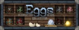 """Eggs Collection"" Decoration Player Heads + Schematic Minecraft Project"