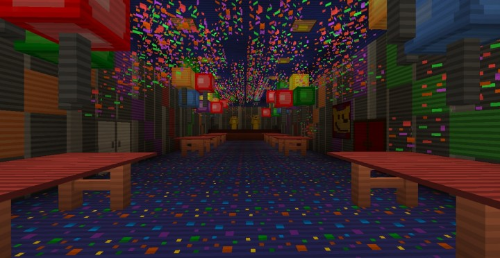 five nights at freddy s 4 8 bit minigame map minecraft project