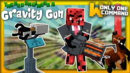 Gravity Gun with only one command block Minecraft Project
