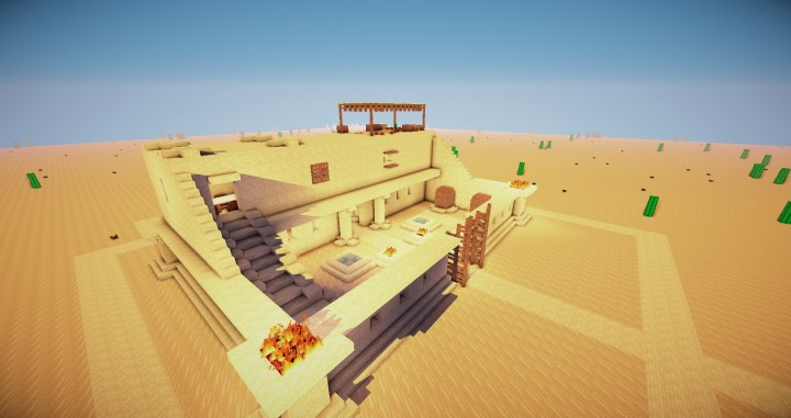 Ancient Egyptian Farm House Minecraft Project