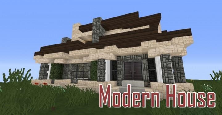 Modern house maison moderne minecraft project for Maison moderne lego