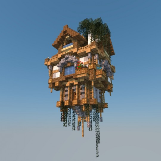 Flying House [Old Build] Minecraft Project