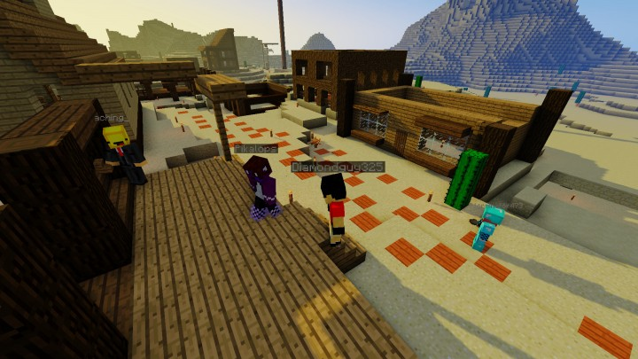 Building a Wild West Town during our Build Event.