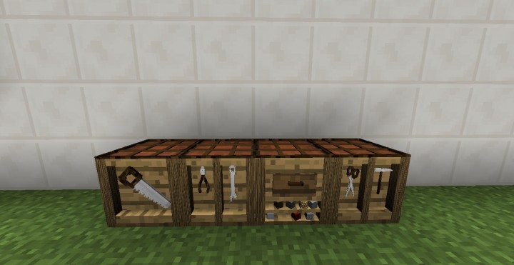 all 4 sides of the crafting table