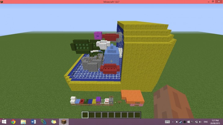 Palisade plant cell model minecraft project cell publicscrutiny
