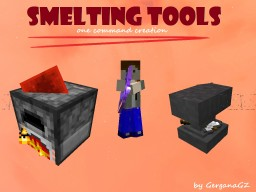 [One Command Creation] Smelting Mania /Smelting Tools/ - by GerganaGZ! - Smelt your useless tools! Minecraft Map & Project