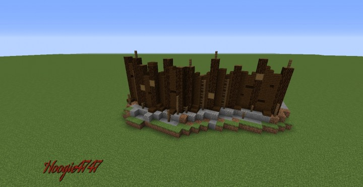 Wall Design Palisades Minecraft Project