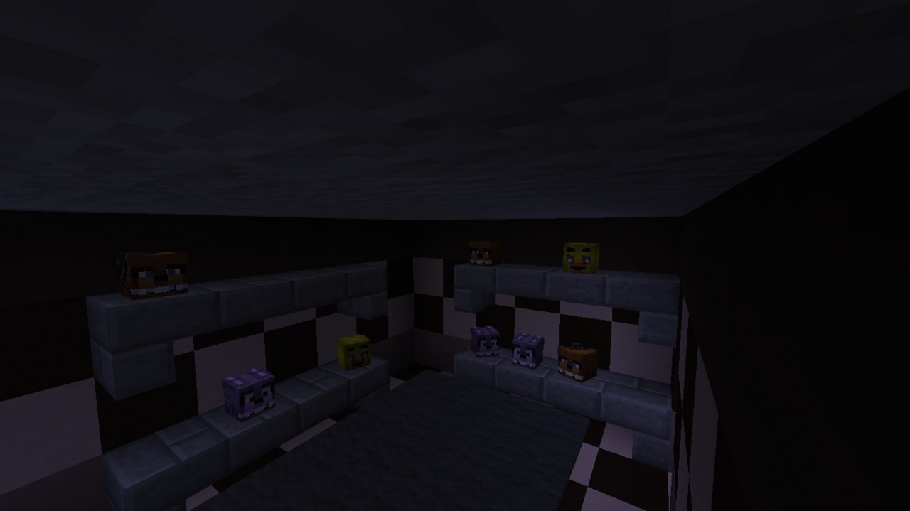 Fed x gaming s fnaf 1 map in mc minecraft project