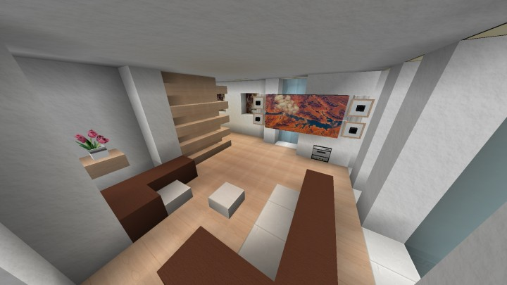 Modern Apartment Interior Minecraft Project