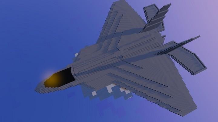 F 22 Raptor Model Minecraft Project