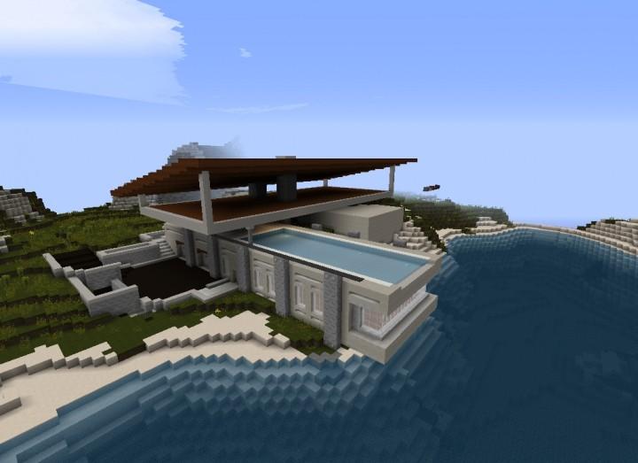 Modern Beachside House 1 Minecraft Project