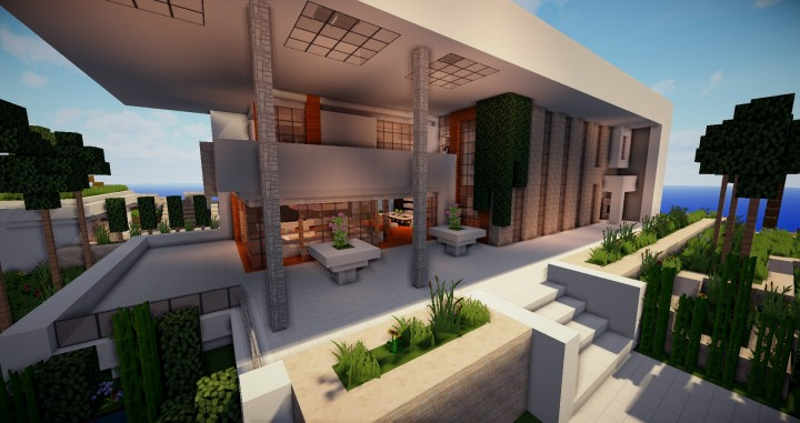 Modern House N Minecraft Project - Minecraft house map