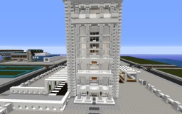 Communications Center Skyscraper on DreamBlocks Minecraft
