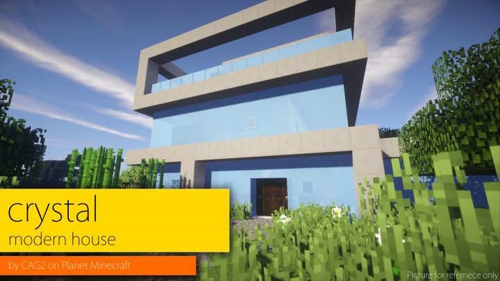 Crystal Modern House Minecraft Project
