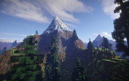 Super Realistic Mountain Terrain Minecraft Map & Project